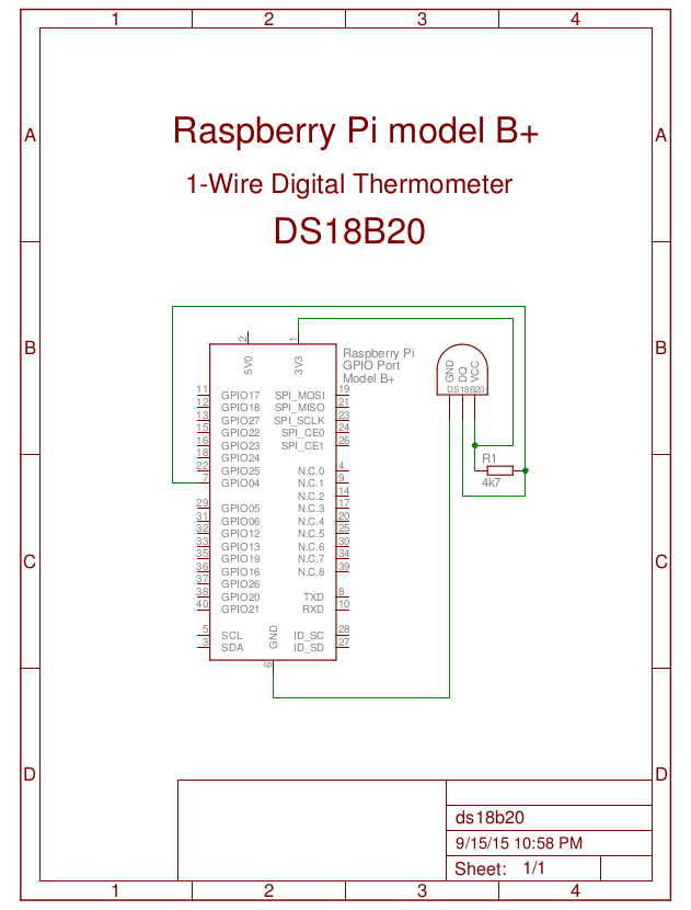 Connect DS18B20 to RPi