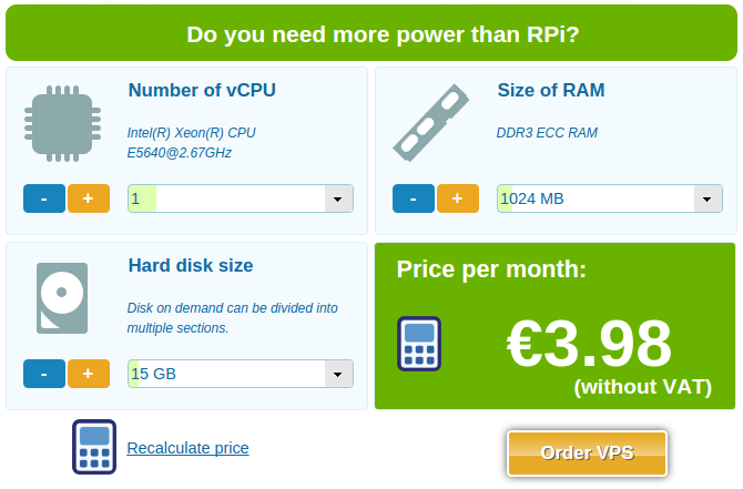 Do you need more power than RPi?